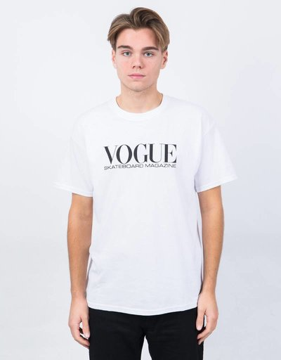 Vogue Skateboard Magazine T-Shirt White