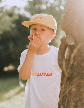 Post Details Post Korvlover Kids tee flock print white