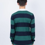 Magenta Rugby Longsleeve Polo Navy/Green