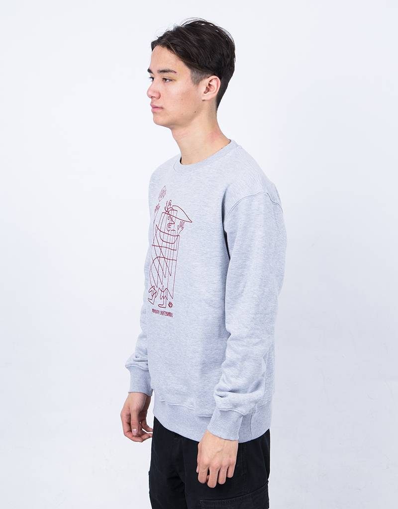 Magenta High Man Crewneck Heather Grey
