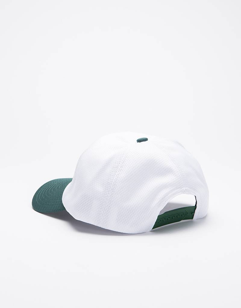 Dime Mesh Snap-Back Cap White & Green