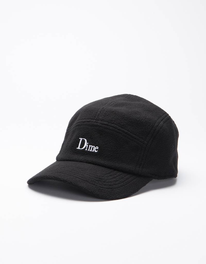 Dime Fleece 5 Panel Cap Black