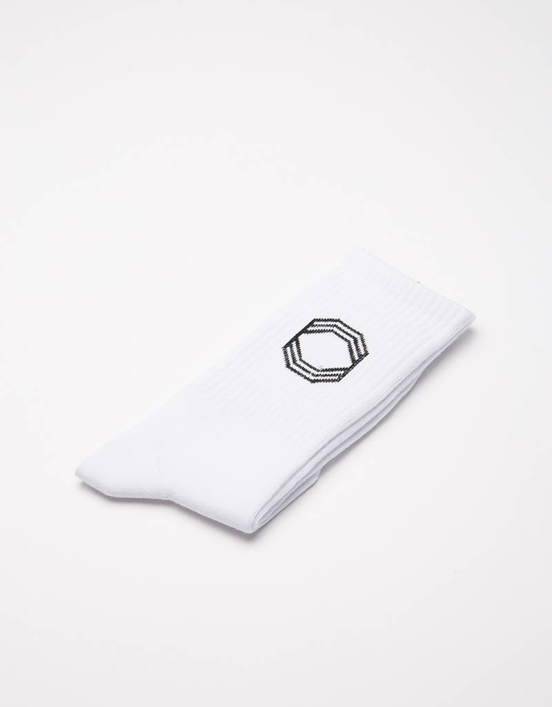 Octagon Socks White