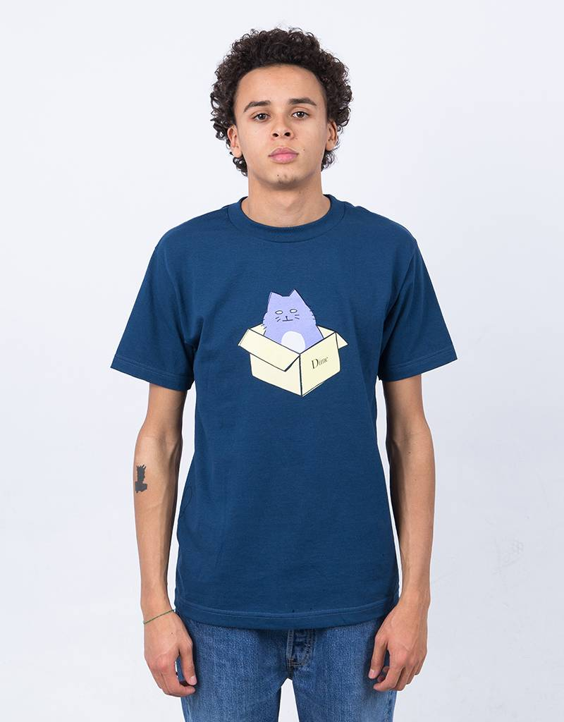 Dime Boxlogo T-Shirt Cat Blue