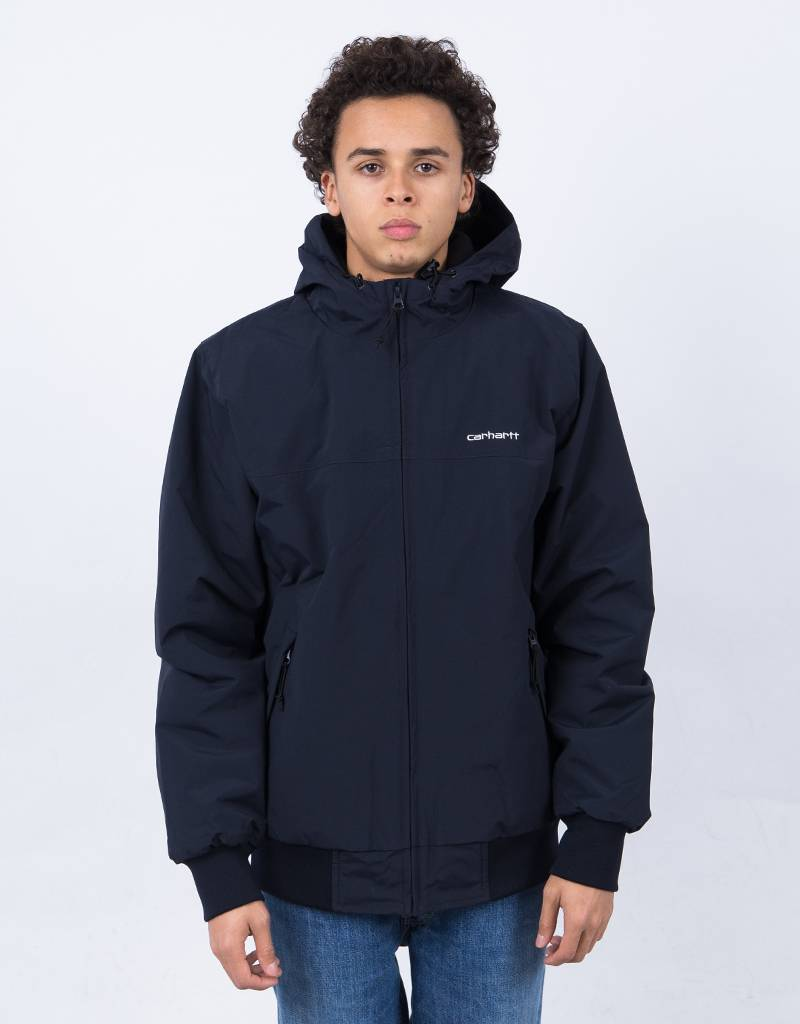 Carhartt Hooded Sail Jacket Dark Navy/White