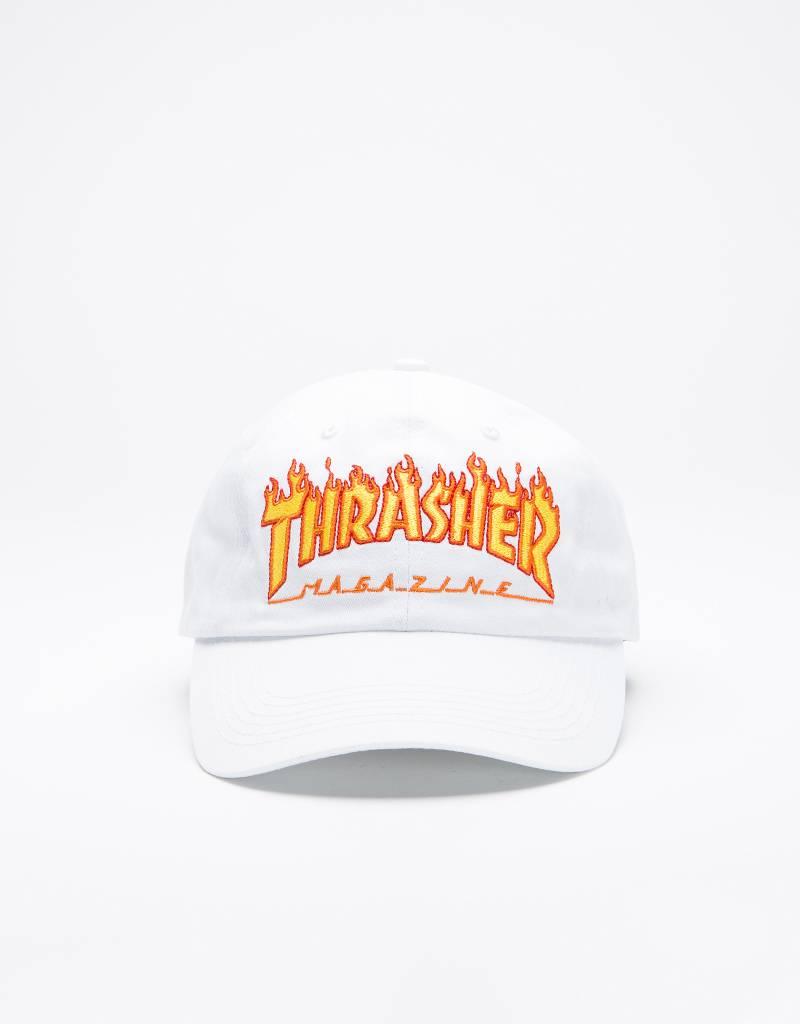Thrasher Cap Flame Old White