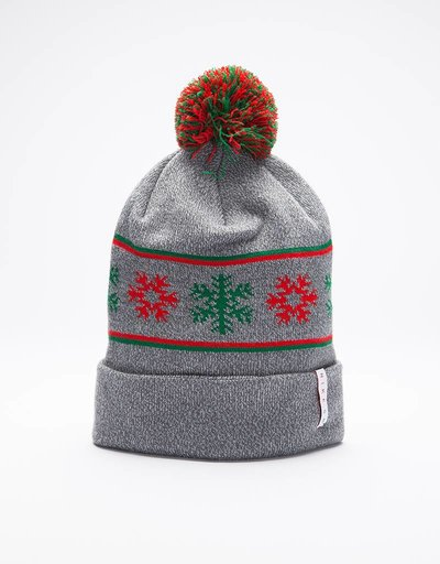 Nike SB Beanie 'Ugly Christmas Sweater' cool grey/pine green/university red