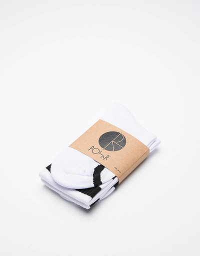 Polar Happy Sad Classic Socks White