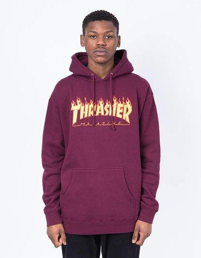Thrasher Hood Flame Maroon