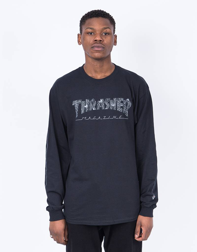 Thrasher Longsleeve T-shirt Web Black