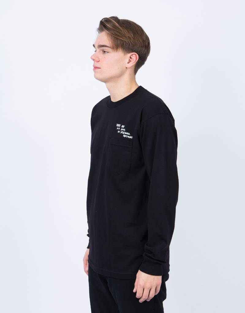Quartersnacks Thoughts Longsleeve Pocket Tee Black