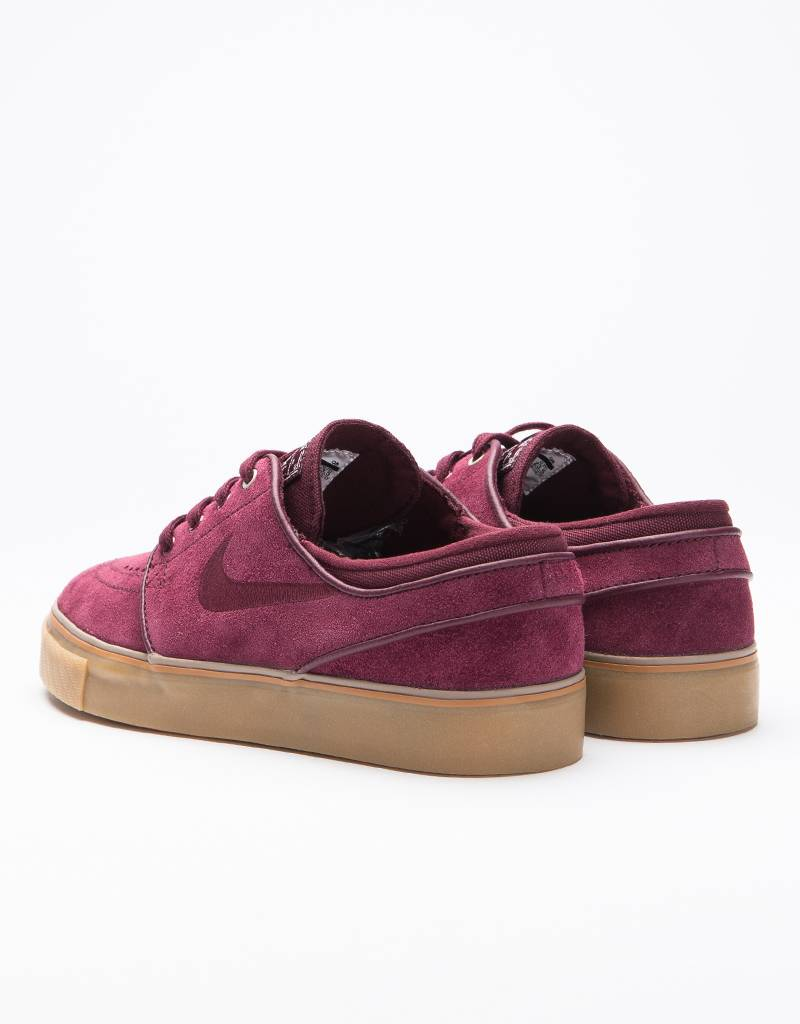 Nike sb women's air zoom stefan janoski night maroon/night maroon-light bone