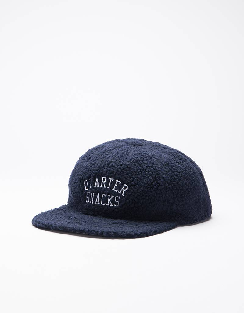 Quartersnacks Arch Logo Cap Navy Fleece