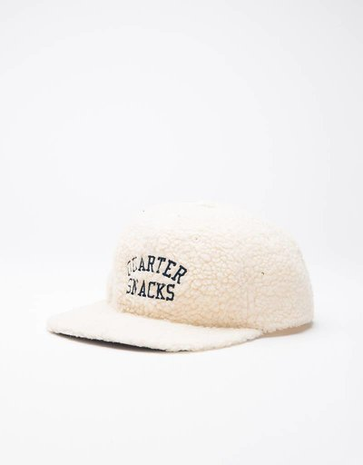 Quartersnacks Arch Logo Cap White Fleece