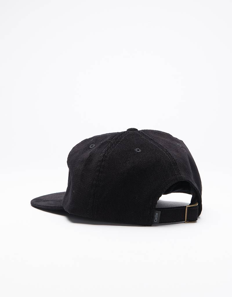 Civilist Unstructured 6 Panel Cap Black Corduroy