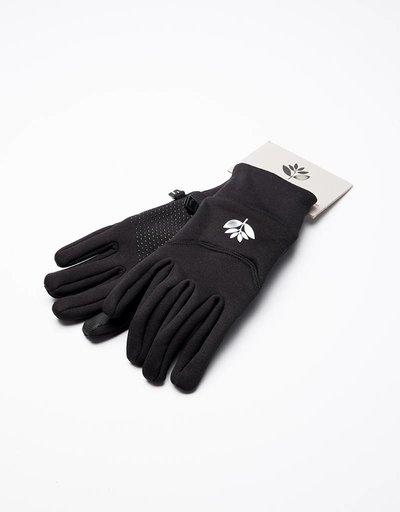 Magenta Gloves Black