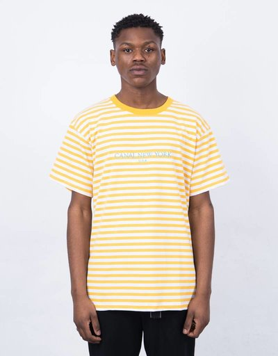 Canal USA Striped T-Shirt Orange