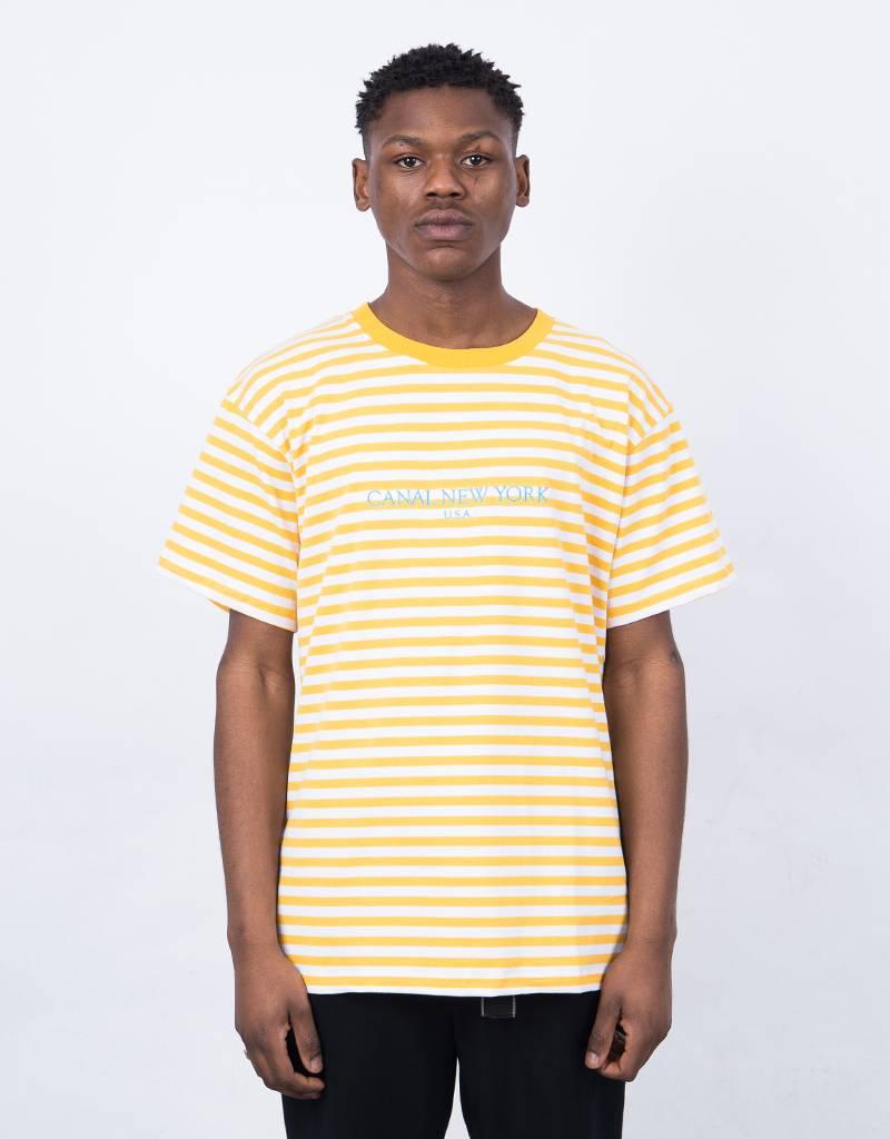 Canal USA Striped T-Shirt Orange