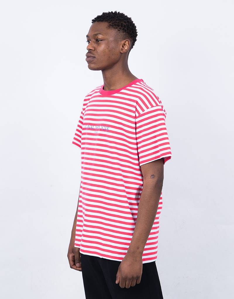 Canal USA Striped T-Shirt Red