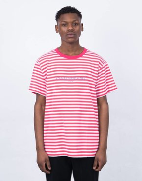 Canal Canal USA Striped T-Shirt Red