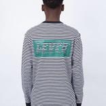 Levi's Skate Green Block Logo Striped T-Shirt Black/White