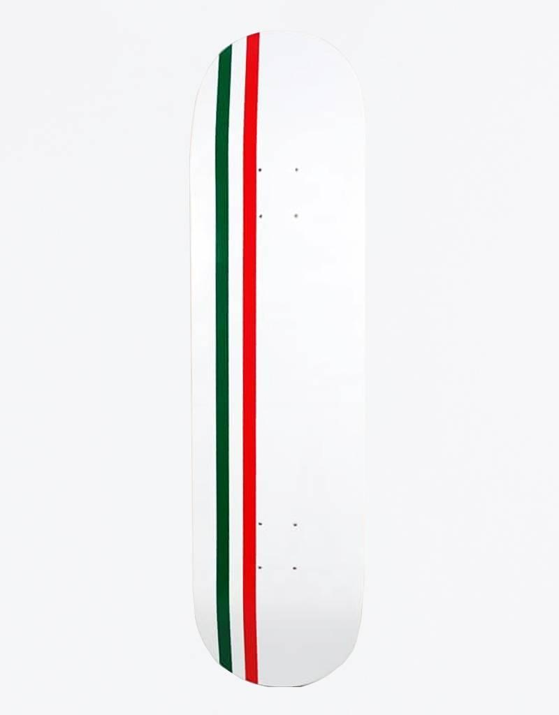 """Skateboard Cafe Embossed Italian Stripe Latte White 7,75"""" Deck"""