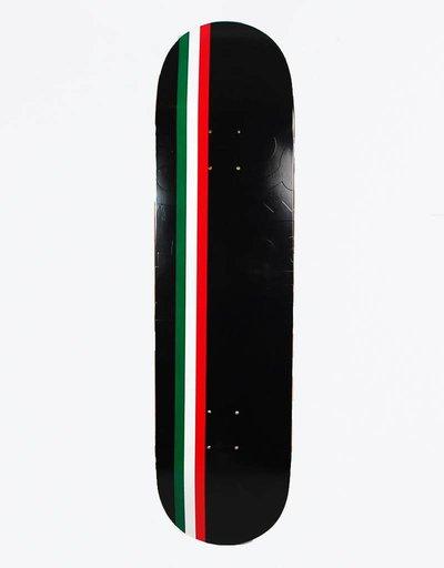 "Skateboard Cafe Embossed Italian Stripe Latte Black 8,125"" DecK"
