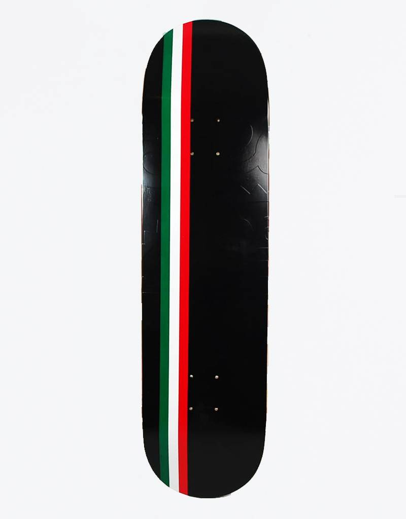 "Skateboard Cafe Embossed Italian Stripe Latte Black 8,125"" DecK"