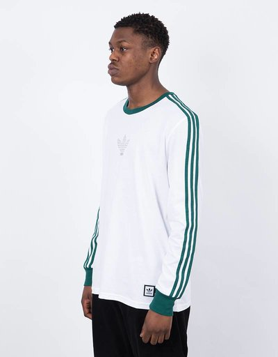Adidas ls club tee white/cgreen