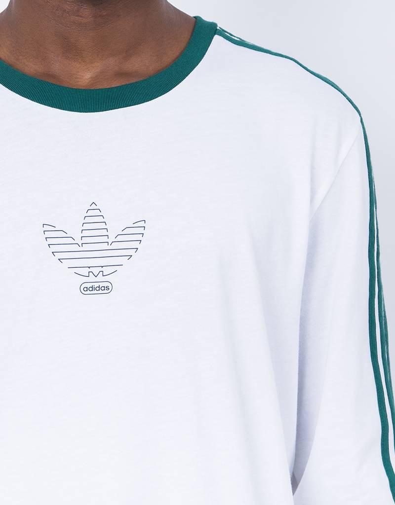 Adidas ls club tee white/cgreen