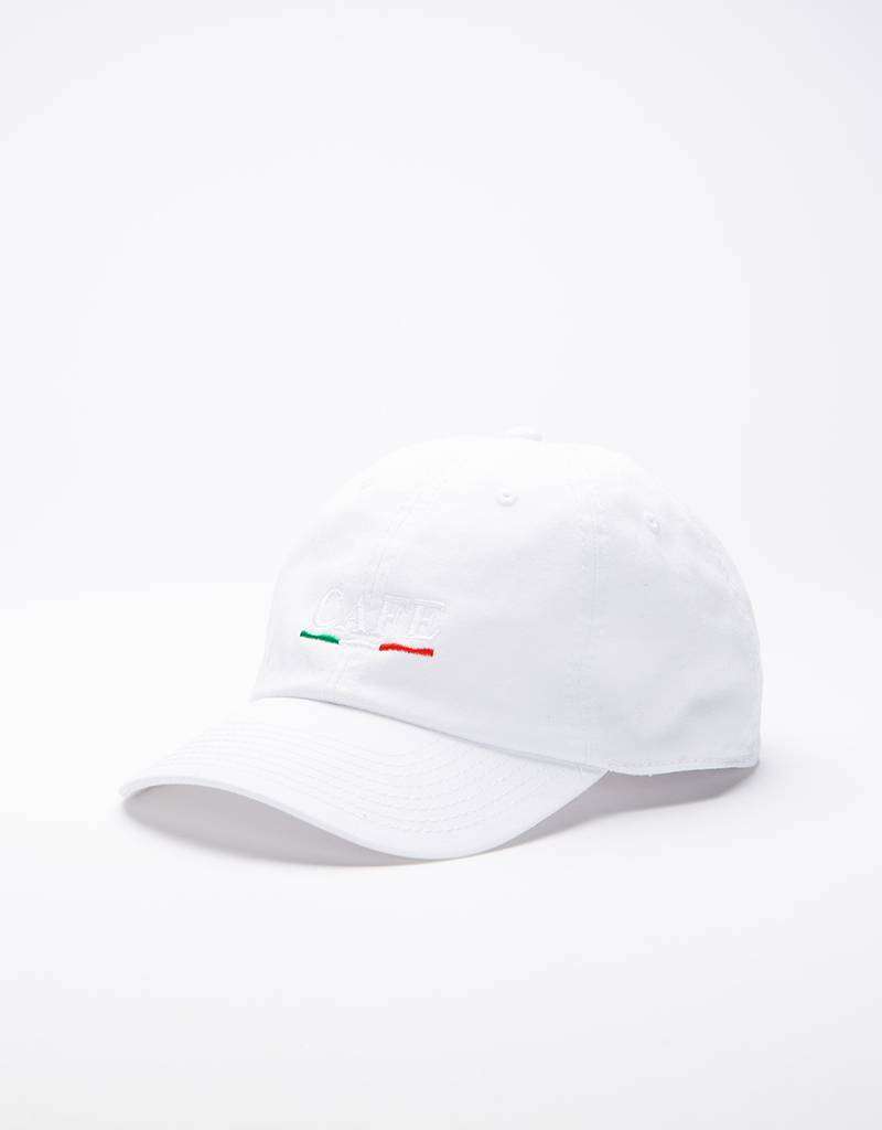 Skateboard Cafe Italian Dad Cap White