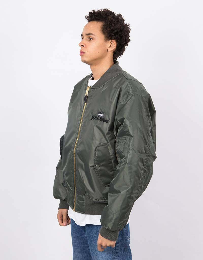 Fucking Awesome x Independent Angel Bomber Jacket Green