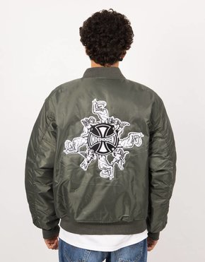 Fucking Awesome Fucking Awesome x Independent Angel Bomber Jacket Green