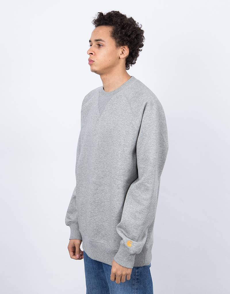 Carhartt Chase Sweatshirt Grey Heather/Gold