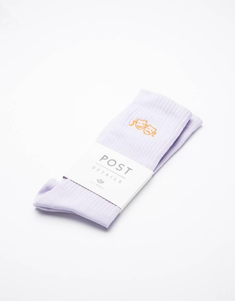 Post Details Drama Club Socks Pastel Purple