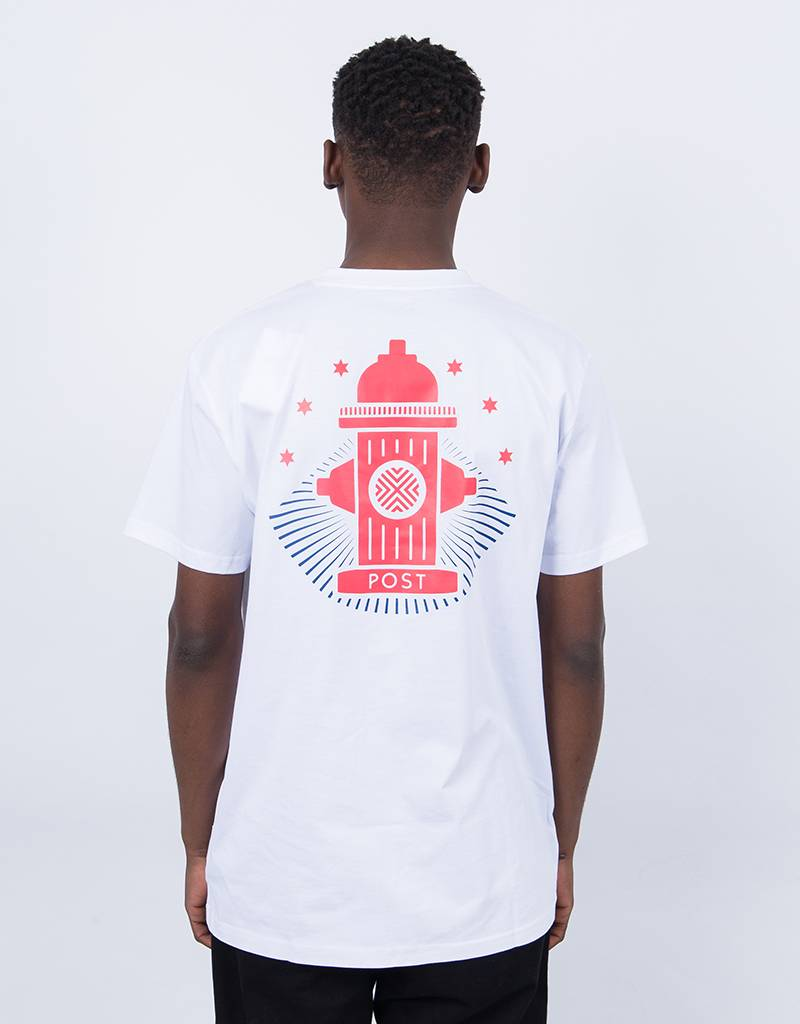 Post Details Shuffleboard Hydrant T-Shirt White