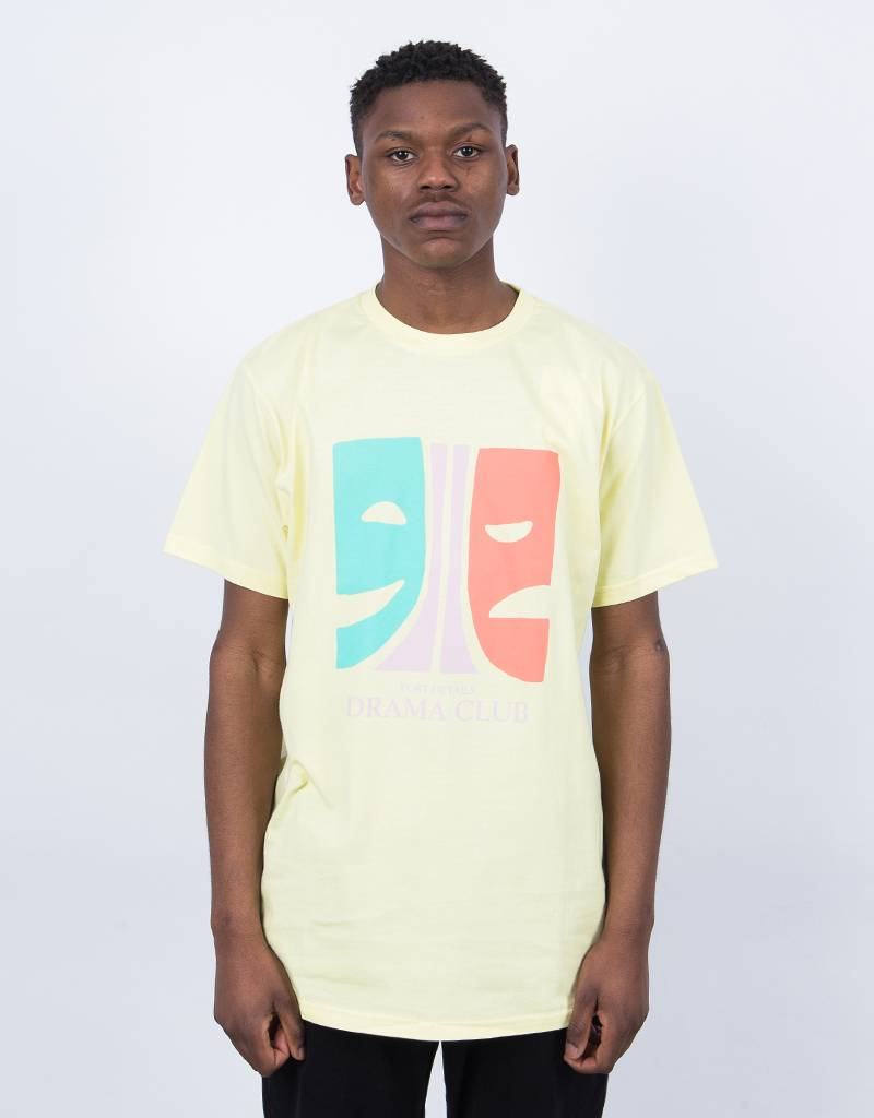 Post Details Drama Club Faces T-Shirt Pastel Yellow