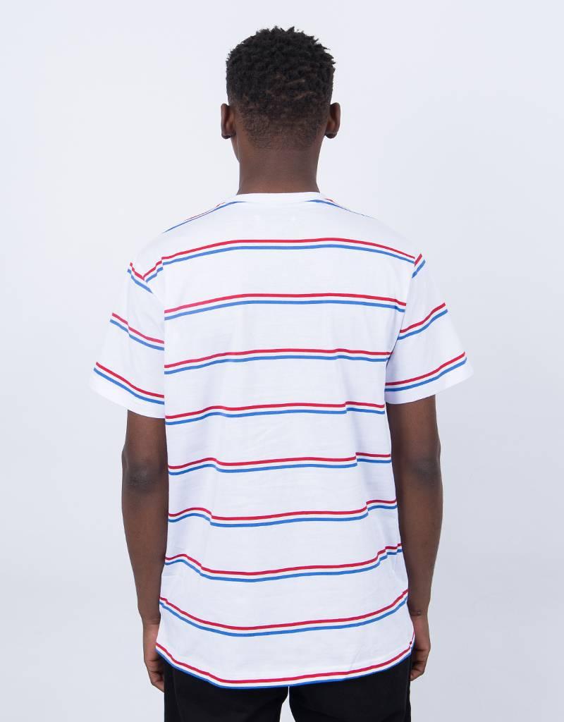 Post Details Shuffleboard Striped T-Shirt White
