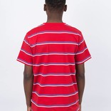 Post Details Shuffleboard Striped T-Shirt Red