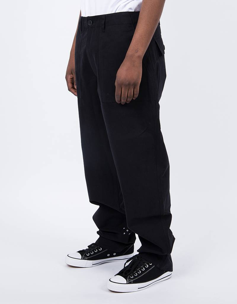 Pop Trading Phatique Farm Pants Black
