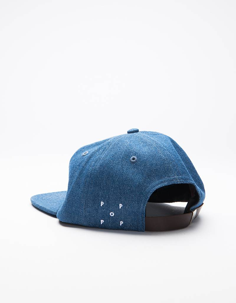 Pop Trading Co O Sixpanel Cap Denim