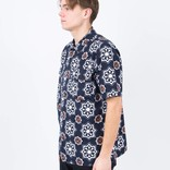 Levi's Skate Shortsleeve Buttondown Shirt Waterthrush Navy Blazer