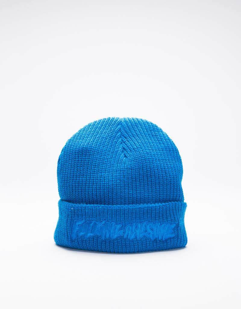 Fucking Awesome Tonal Beanie Blue