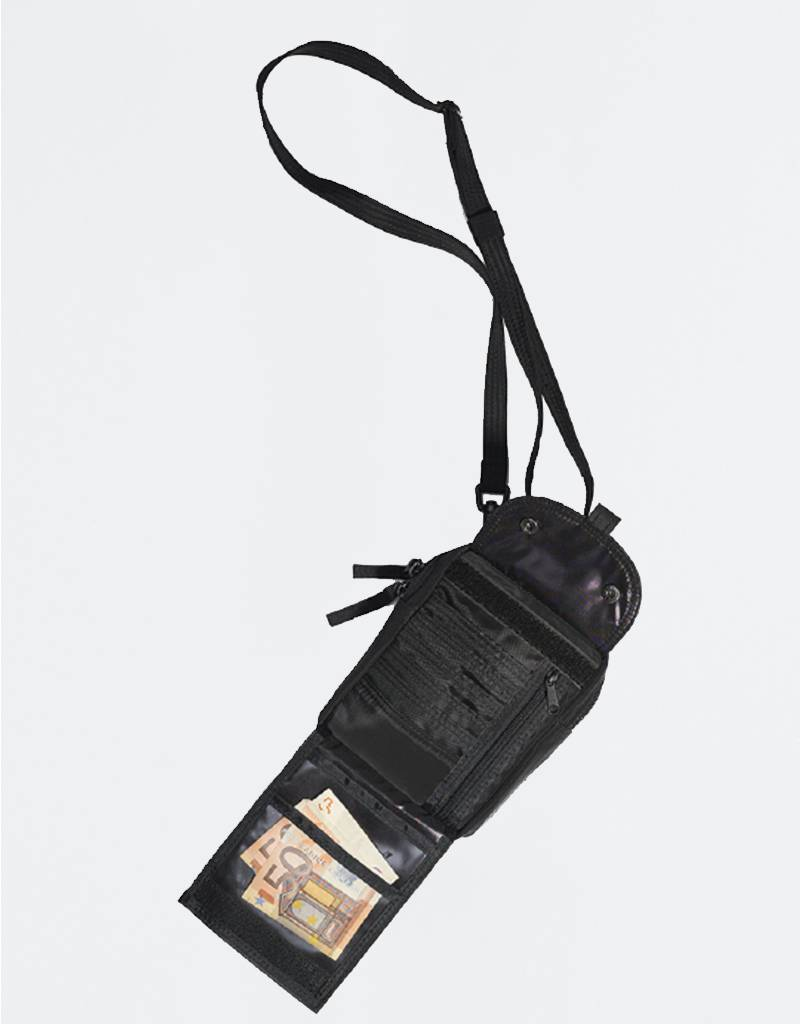 Pop Trading Co Passport Pouch Black