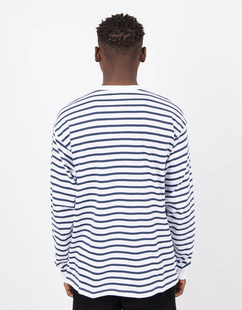Carhartt Champ Longsleeve Striped Blue/White
