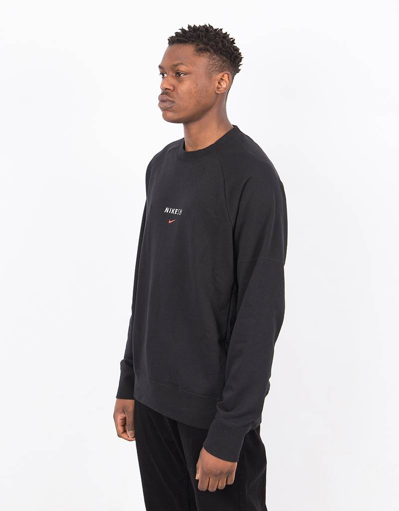 Nike SB Dry Everett Crewneck Black/Solar Red