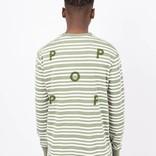 Pop Trading Co Triple Stripe Longsleeve Olive