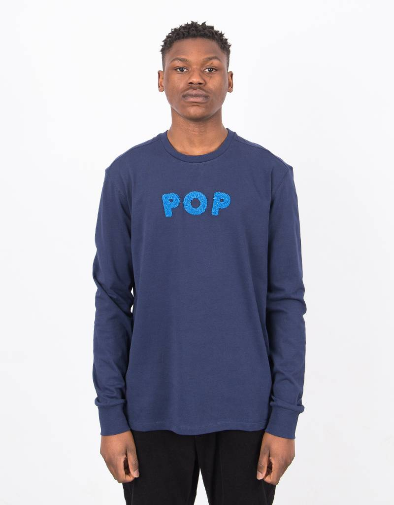 Pop Trading Co Uni Longsleeve Navy