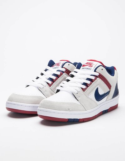 Nike SB Air Force II Low white/blue void-red crush-white