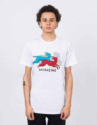 Parra Dog Magazine T-Shirt White